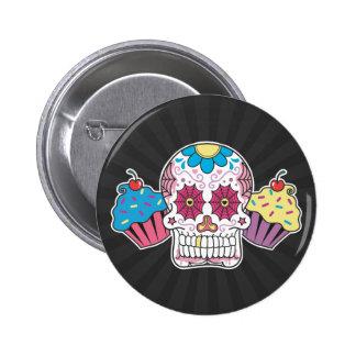 Sugar Skull and Cupcakes 6 Cm Round Badge