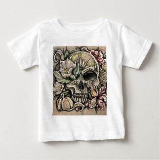 Sugar skull and lilies baby T-Shirt