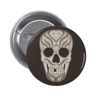 Sugar Skull art button