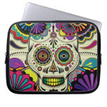 Sugar Skull Art / Day of the Dead bag Laptop Computer Sleeves