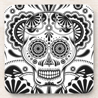 "Sugar Skull Art ""Day of the Dead"" coasters"