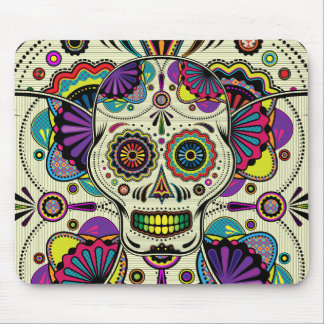 Sugar Skull Art - Day of the Dead mousepad