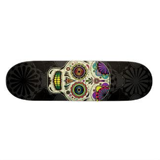 Sugar Skull Art - Day of the Dead Skateboard