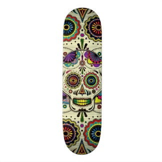 Sugar Skull Art Day of the Dead Skateboard Decks