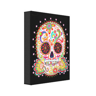 Sugar Skull Art on Canvas - Ready to Hang!
