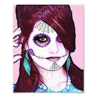 Sugar Skull Art Print: A Study in Red Art Photo