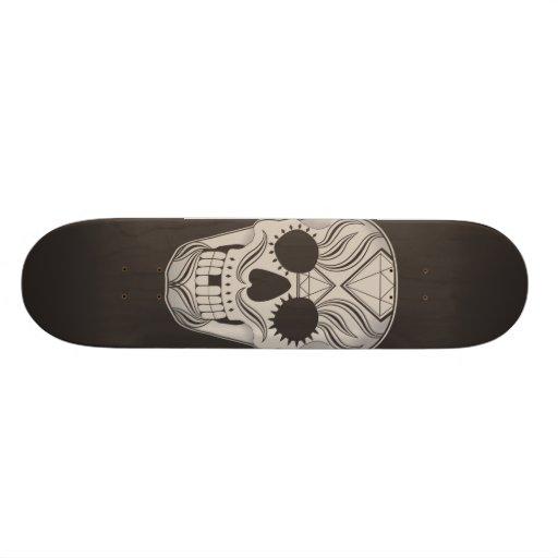 Sugar Skull art skateboard
