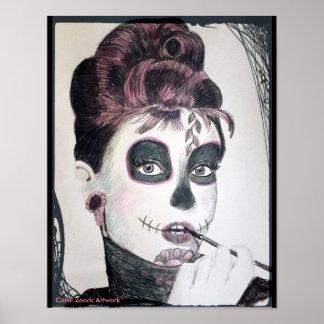 Sugar Skull (Audrey) by Carol Zeock Poster
