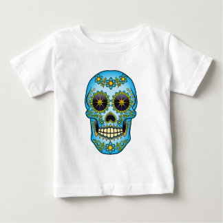 Sugar Skull - Blue Floral Baby T-Shirt
