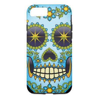 Sugar Skull Blue Floral iPhone 8/7 Case