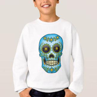 Sugar Skull - Blue Floral Sweatshirt