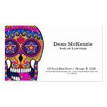 Sugar Skull body art Business Card Templates