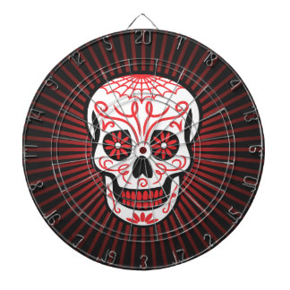 sugar skull burst black dartboard