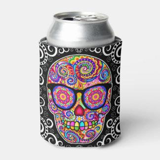 Sugar Skull Can Cooler - Hipster Skull
