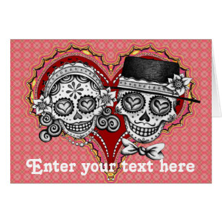 Sugar Skull Cards - Customize with your own text!