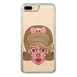 Sugar Skull Carved iPhone 8 Plus/7 Plus Case