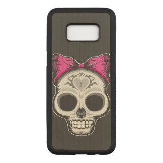 Sugar Skull Carved Samsung Galaxy S8 Case