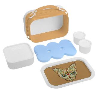 Sugar Skull Cat - Tattoo Design Lunchbox