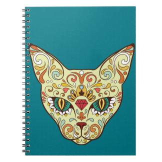 Sugar Skull Cat - Tattoo Design Notebooks