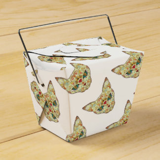Sugar Skull Cat - Tattoo Design Party Favour Boxes