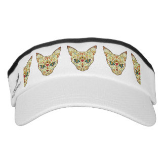 Sugar Skull Cat - Tattoo Design Visor
