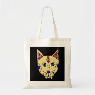 Sugar Skull Cat Tote Budget Tote Bag