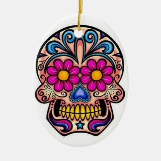 Sugar Skull Christmas Ornament