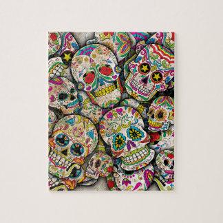 Sugar Skull Collage Puzzle