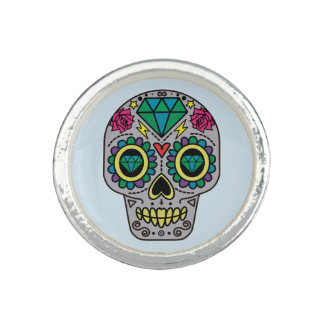 Sugar Skull Colorful Ring
