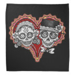Sugar Skull Couple Bandanna - Day of the Dead Art