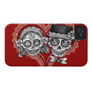 Sugar Skull Couple Day of the Dead Blackberry Case