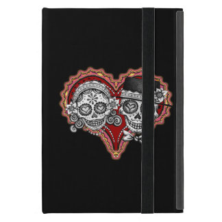 Sugar Skull Couple iPad Mini Case with Kickstand