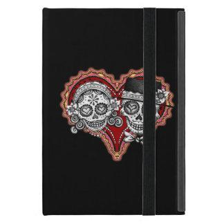 Sugar Skull Couple iPad Mini Case with Kickstand