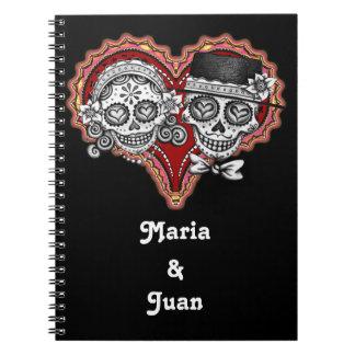 Sugar Skull Couple Notebook - Customize it!