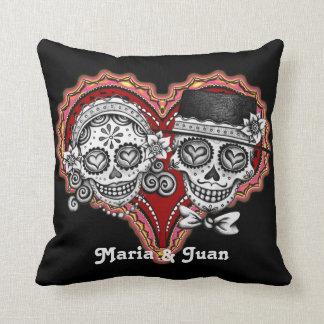 Sugar Skull Couple Pillow - Customise it! Throw Cushions