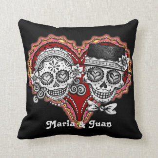 Sugar Skull Couple Pillow - Customize it!