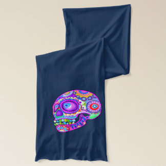 Sugar Skull Couple Scarf - Colorful Art