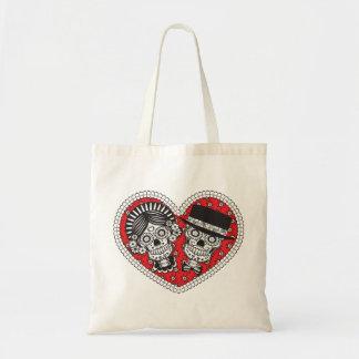 Sugar Skull Couple Tote Bag
