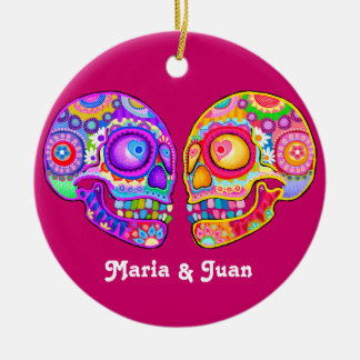 Sugar Skull Couple Wedding Ornament - CUSTOMIZE IT
