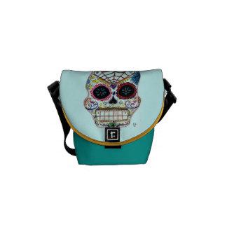 Sugar Skull Courier Bag