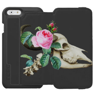 Sugar Skull Cow Rose Incipio Watson™ iPhone 6 Wallet Case