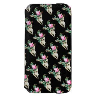 Sugar Skull Cow Rose Incipio Watson™ iPhone 6 Wallet Case