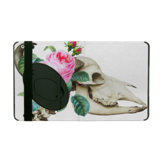 Sugar Skull Cow Rose iPad Case