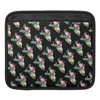 Sugar Skull Cow Rose iPad Sleeve