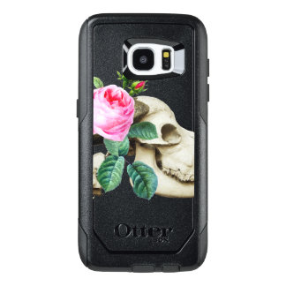 Sugar Skull Cow Rose OtterBox Samsung Galaxy S7 Edge Case