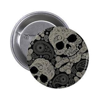 Sugar Skull Crossbones Pattern 6 Cm Round Badge