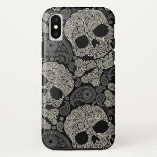 Sugar Skull Crossbones Pattern iPhone X Case