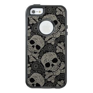 Sugar Skull Crossbones Pattern OtterBox iPhone 5/5s/SE Case