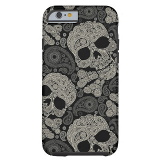 Sugar Skull Crossbones Pattern Tough iPhone 6 Case
