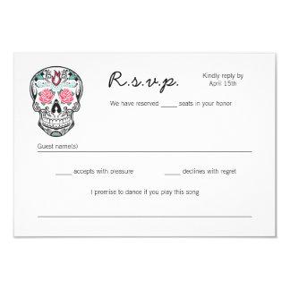 Sugar Skull Dancing Skeletons Wedding RSVP cards